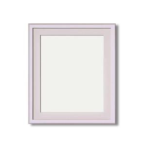 【イタリアン調額縁】マット・壁掛けひも・アクリル付 ■8215水彩額F10号 マット付 (ホワイト)