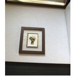 透明フォトフレーム/写真立て 【ハガキサイズ 150×105mm対応可】 ブラウン 木製フレーム 化粧箱入り 日本製