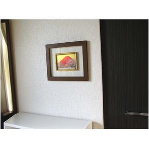 【縁起額・祝い額】透明感が美しいフレーム ■吉岡浩太郎グラス額「赤富士桜」