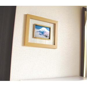 【縁起額・祝い額】透明感が美しいフレーム ■吉岡浩太郎グラス額「白富士桜」