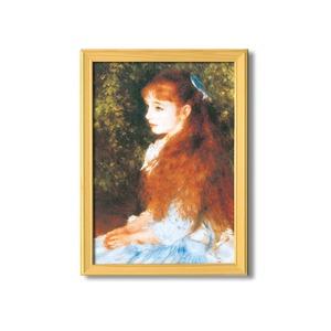 名画額縁/桧フレームセット 【A3】 ルノワール 「可愛いイレーネ」 343×466×230mm 壁掛けひも付き