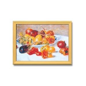 名画額縁/桧フレームセット 【A3】 ルノワール 「南仏の果実」 343×466×230mm 壁掛けひも付き