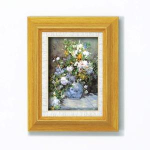 【世界の名画】立体名画 複製画 絵画額 ■ルノワール名画額サム(立体加工付き)「花瓶の花」 - 拡大画像