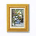 【世界の名画】立体名画 複製画 絵画額 ■ルノワール名画額サム(立体加工付き)「花瓶の花」