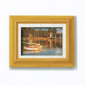 名画額縁/フレームセット 【サム 壁掛け用】 モネ 「アルジャントーユの橋」273×343×48mm 立体加工付き