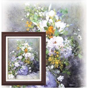 名画額縁/フレームセット 【F6号】 ルノワール 「花瓶の花」 433×525×50mm 壁掛けひも付き