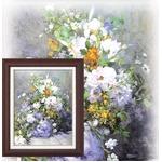 【世界の名画】名画額縁 複製画 絵画額 ■ルノワール名画額F6号「花瓶の花」