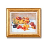 【世界の名画】名画額縁 複製画 絵画額 ■ ルノワール名画額F6金「南仏の果実」 ひも付き