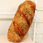 パンそっくりなクッション 【白ごまフランスパン】 35×40×10cm 中身:低反発素材 〔インテリアグッズ おもしろグッズ〕