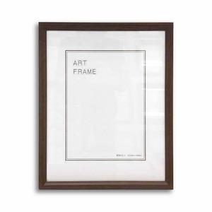 【額縁・絵画額・水彩額】壁掛けひも付 ■5546木製デッサン額(ダークオーク) 半切サイズ(545×424mm)