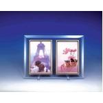 クリスタルフォトフレーム/写真立て L版ペア 【L版対応】 127×89mm クリスタルガラス使用 日本製