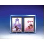クリスタルWフォトフレーム/写真立て ハガキ  【ハガキサイズ対応】 150×105mm クリスタルガラス使用 日本製