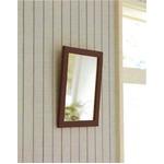 木製スタンド付きミラー 【サイズ 約247×298×28〜250mm】 日本製 ブラウンの画像