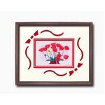 フラワーシルク版画額D 【インチサイズ】 吉岡浩太郎 「赤いポピー」  日本製の画像