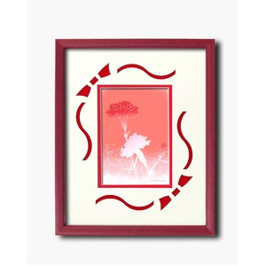 フラワーシルク版画額D 【インチサイズ】 吉岡浩太郎 「カーネーション」  日本製