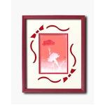 フラワーシルク版画額D 【インチサイズ】 吉岡浩太郎 「カーネーション」  日本製の画像