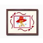 額縁/フレーム  いわさきちひろアート額 「赤い帽子」 壁掛け用 日本製の画像