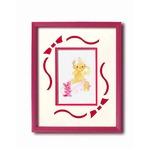 額縁/フレーム  いわさきちひろアート額 「ピンクのウサギと赤ちゃん」 壁掛け用 日本製の画像