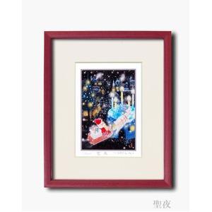 『聖』版画額 【インチサイズ】 吉岡浩太郎「聖夜」 日本製