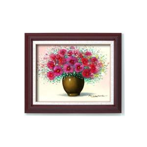 油絵額/木製フレームセット 【オンタケF6号】 桑山茂 「赤い花」 433×525×50mm 化粧箱入り