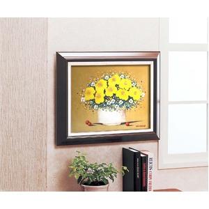 油絵額/木製フレームセット 【オンタケF6号】 沢田雅士 「花」 433×525×50mm 化粧箱入り
