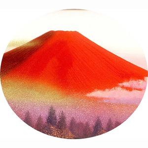 油絵額/フレームセット 【F6号】 徳田春邦「赤富士」 460×552×55mm 金フレーム 化粧箱入り
