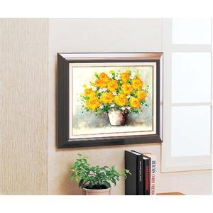 油絵額フレームセット 【オンタケF6号】 鈴木郁夫 「黄色いバラ」 433×525×50mm 化粧箱入り