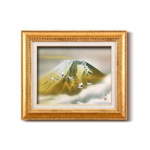 日本画額/金フレームセット 【F6号】 伊藤渓山 「金富士」 460×552×55mm 化粧箱入り