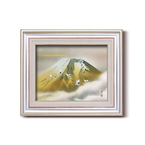 日本画額縁/フレームセット 【F6AS】伊藤渓山 「金富士」 約477×571×59mm 壁掛けひも付き