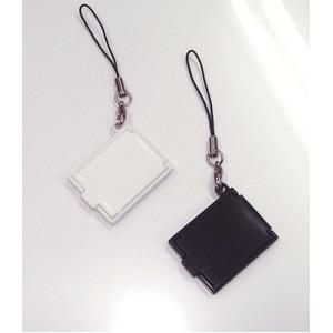 【化粧直しに最適!】携帯コンパクトミラー(ストラップ付) ホワイト【5個セット】/日本製 h03