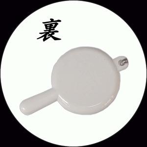 【化粧直しに最適!】携帯ハンドミラー(ストラップ付) ホワイト【5個セット】/日本製