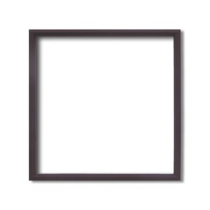 【角額】正方形額・細いフレーム・壁掛けひも■5432 300角(300×300mm)「ブラウン」