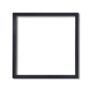 【角額】正方形額・細いフレーム・壁掛けひも■5432 300角(300×300mm)「黒」