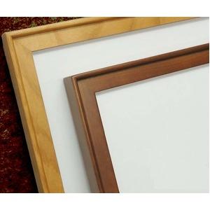 【角額】高級木製正方形額・壁掛けひも・アクリル付き ■9787 400角(400×400mm)「ブラウン」