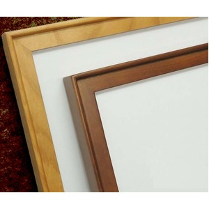 【角額】高級木製正方形額・壁掛けひも・アクリル付き ■9787 500角(500×500mm)「ブラウン」