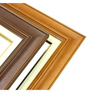 【油額】油絵額・キャンバス額・木製油絵額・茶色油絵額 ■F3号(273×220mm)「チーク」