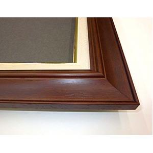 【油額】油絵額・キャンバス額・木製油絵額・茶色油絵額 ■F3号(273×220mm)「ブラウン」