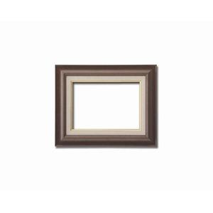 【油額】油絵額・キャンバス額・木製油絵額・茶色油絵額 ■F4号(333×242mm)「ブラウン」