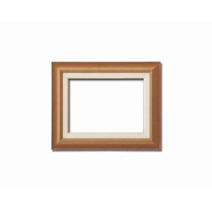 【油額】油絵額・キャンバス額・木製油絵額・茶色油絵額 ■F6号(410×318mm) 「チーク」
