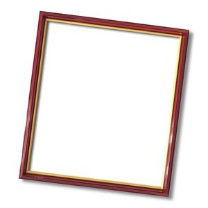 【色紙額】赤い縁に金色フレーム 色紙用 壁掛けひも ■赤金 色紙(8×9)275×244mm 商品画像