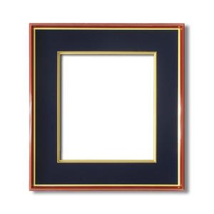 【色紙額】赤い縁に金色フレーム 色紙用 壁掛けひも ■赤金 色紙(マット付き)275×244mm 紺 商品画像