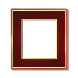 【色紙額】赤い縁に金色フレーム 色紙用 壁掛けひも ■赤金 色紙(マット付き)273×242mm エンジ
