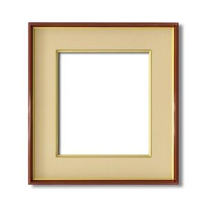 【色紙額】赤い縁に金色フレーム 色紙用 壁掛けひも ■赤金 色紙(マット付き)275×244mm ベージュ 商品画像