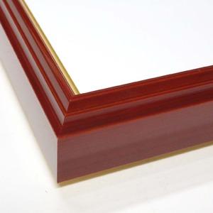 【色紙額】赤い縁に金色フレーム 色紙用 壁掛けひも ■赤金 色紙(マット付き)137×121mm ベージュ