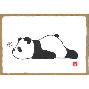 【越前和紙】パンダの絵ハガキ・和紙パンダ・パンダの版画 ■吉岡浩太郎シルク版画絵葉書「パンダ」10枚入り(こんにちは) 商品画像