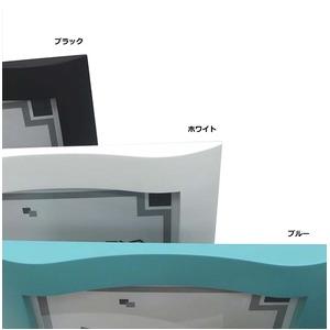 【スタンド付き色紙額】ホワイト色紙額・ブラック色紙額・ブルー色紙額 ■ウェーブ色紙額(8×9)273×242mm(ブルー)