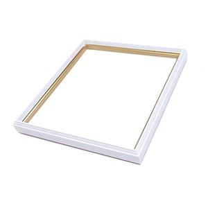 【カラー色紙額】細い色紙額・細いフレームの色紙額 ■カラー色紙額(8×9)275×244mm 白