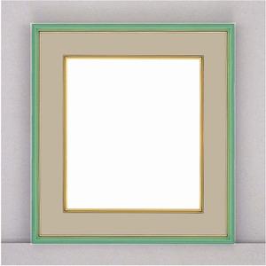 【カラー色紙額】細い色紙額・細いフレームの色紙額 ■カラー色紙額273×242mm グリーン