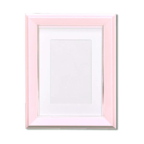 カラー遺影額(ハガキ) ■仏事用額・葬儀額(遺影額)スタンド付 ピンク