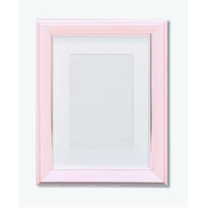 カラー遺影額(キャビネ) ■仏事用額・葬儀額(遺影額)スタンド付 ピンク